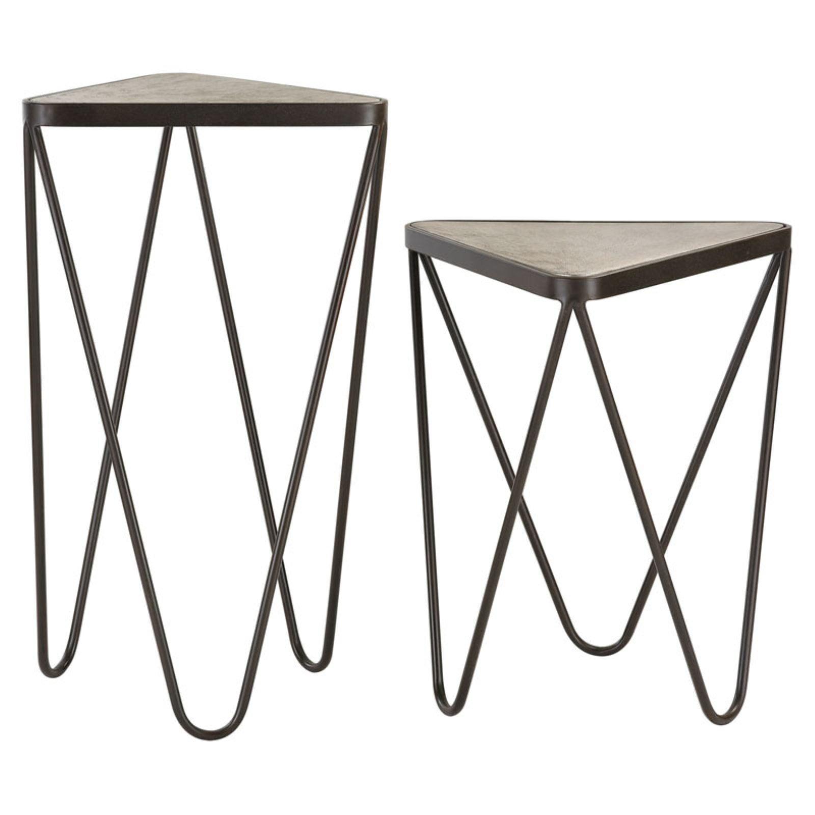 Elk Lighting Angular Side Table Set of 2 by Sterling