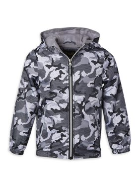 ixtreme Boys 4-18 Camo Hooded Windbreaker Jacket