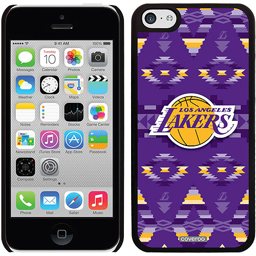 Los Angeles Lakers Tribal Print Design on Apple iPhone 5c Thinshield Snap-On Case by Coveroo
