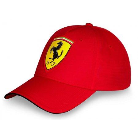 Ferrari Red Carbon Shield Hat (Wer Hat Ferrari)
