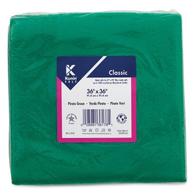 Green Classic Craft (Kunin Classic Felt - Pirate Green, 36