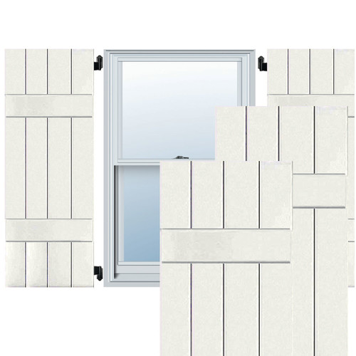 Ekena Millwork Exterior 2 Composite Wood Board-N-Batten Shutter (Set of 2)