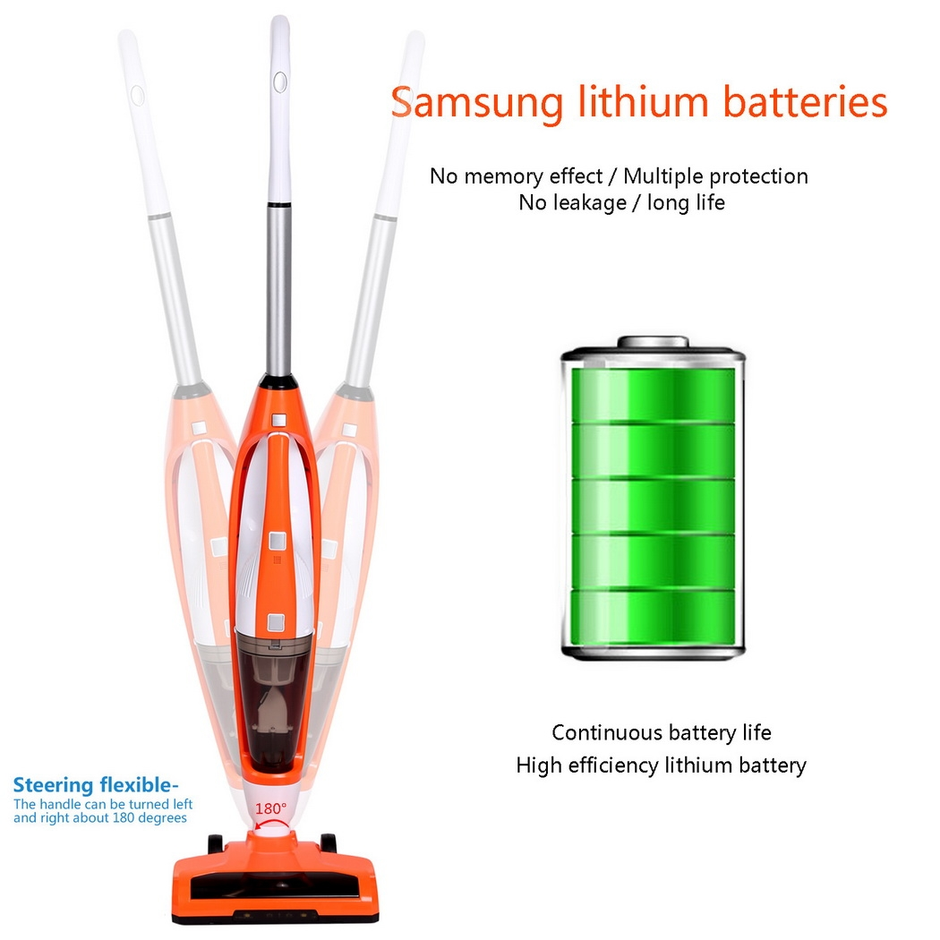 Vacuum Cleaner Rechargeable Cordless Wireless Bagless Upright Handheld Stick Car Vacuum 3 in 1  WSY