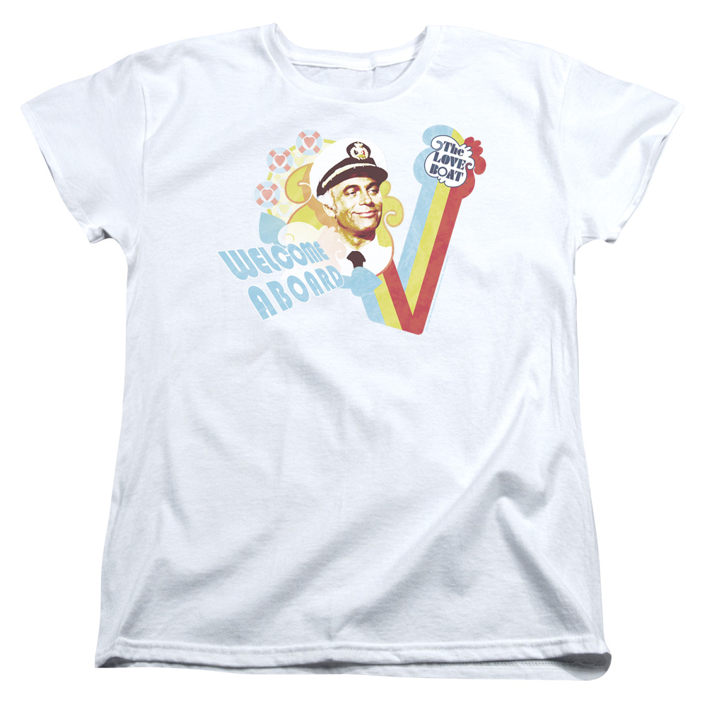The Love Boat Welcome Aboard Womens Short Sleeve Shirt