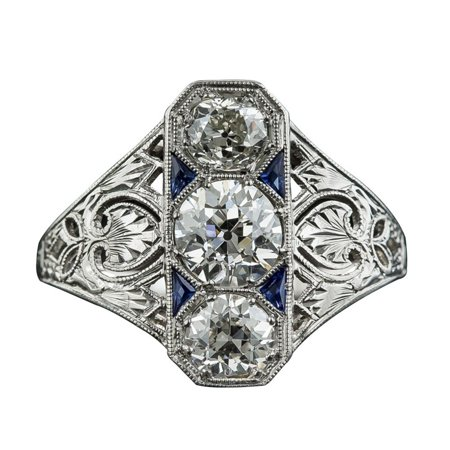Lucky Square Ring - AkoaDa Blue Zircon Female Ring, Exaggerated Square luxury Fashion Rings Jewelry for Women
