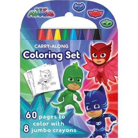 PJ Masks: Carry-Along Coloring Set (Halloween Masks Coloring Pages)