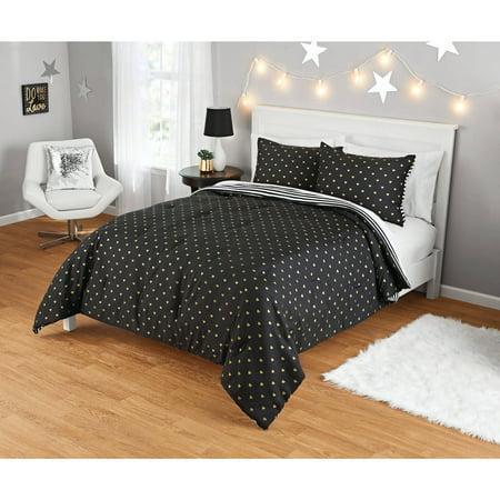 Your Zone Gold Hearts Comforter Set 1 Each Walmart Com