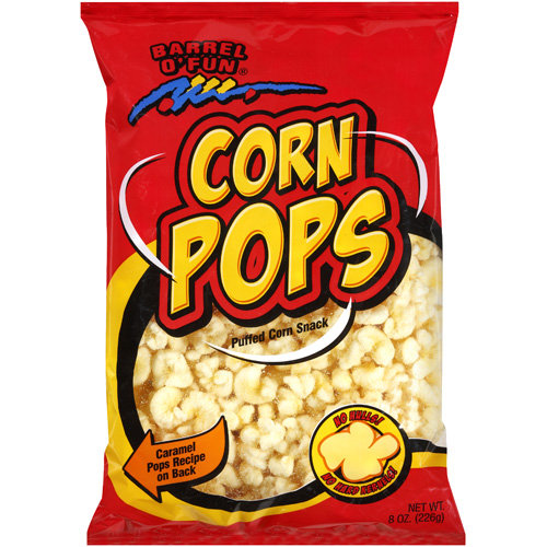Barrel O' Fun Corn Pops Puffed Corn Snack, 8 oz