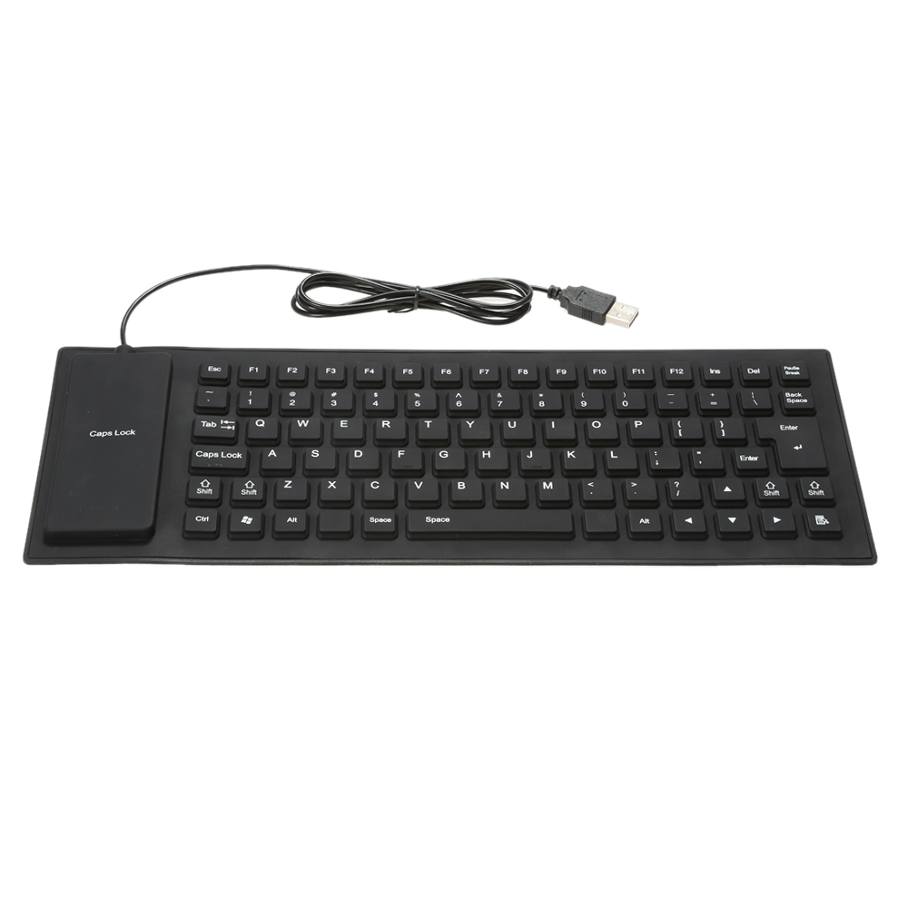 85 Keys Foldable Flexible Rollup USB Wired Silicone Keyboard Water-resistant Washable for PC Notebook Laptop Dust-resistant