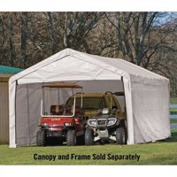 "Shelterlogic Super Max 12' x 30' White Canopy Enclosure Kit Fits 2"" Frame"