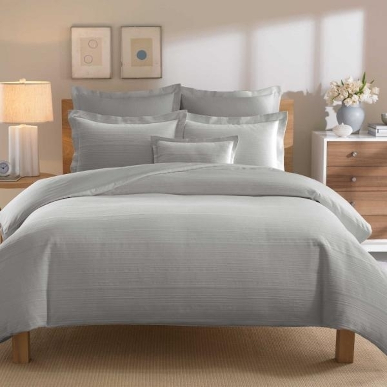 Real Simple Solutions Linear Grey European Sham - image 1 of 1