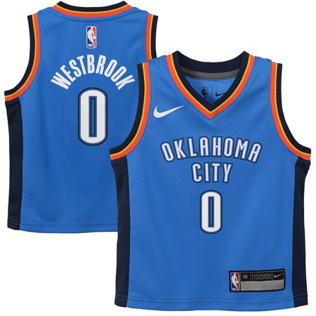 Russell Westbrook Oklahoma City Thunder Nike Preschool Replica Jersey Blue - Icon - Russell Westbrook Halloween