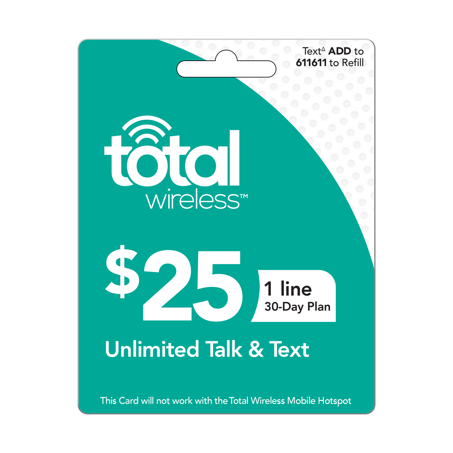 Total Wireless $25 Individual 30 Day Plan (Email Delivery)