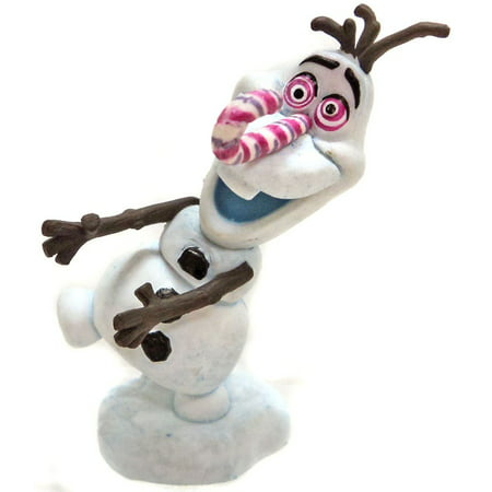 Disney Frozen Olaf's Frozen Adventure Candy Cane Nose Olaf PVC Figure [No Packaging]