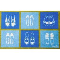 """Doortex® Shoe Design Short Indoor Entrance Runner - 20"""" x 30"""""""