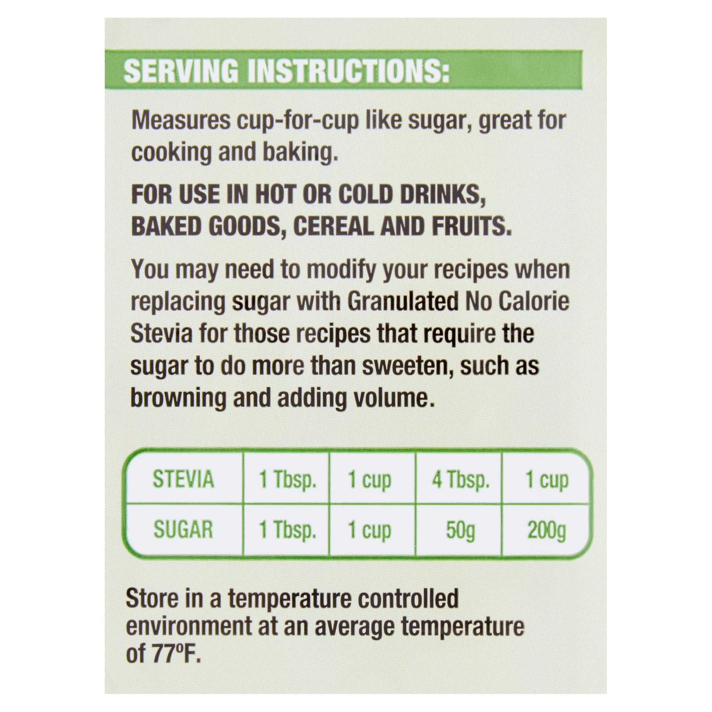 1e8e07362dc3d Great Value Granulated No Calorie Stevia