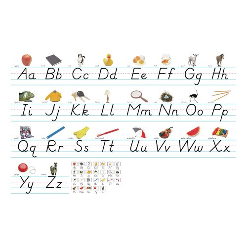 Northstar Teacher Resource Alphabet Lines Modern Manuscript Bulletin Board Cut Out