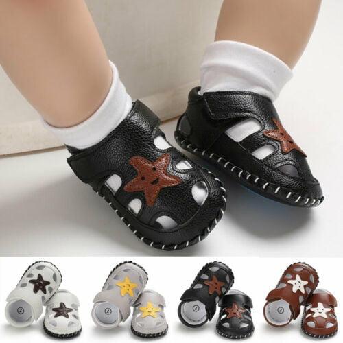 Meihuida Newborn Baby Boys Soft Sole Leather Crib Shoes Anti Slip Sneaker Prewalker 0 18m Walmart Com Walmart Com