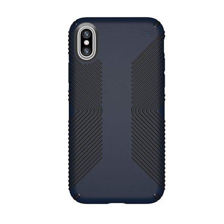 Speck Presidio Grip Case For iPhone XR - Black / Blue Speck Black Leather