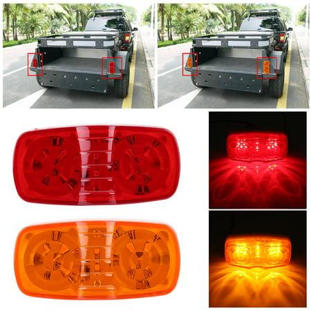 Ejoyous 20Pcs Marker LED Light Roof Rear Side Lights Lamp for Trailer Truck SUV Amber/Red,Marker Light, Marker LED Light ()