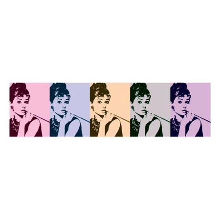 Antique Cigarette Cards (Audrey Hepburn Breakfast Tiffanys Cigarette Colors Movie Thick Cardstock Poster 38x13 inch )