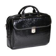 Siamod Settembre Leather Medium Ladies Laptop Briefcase - Black