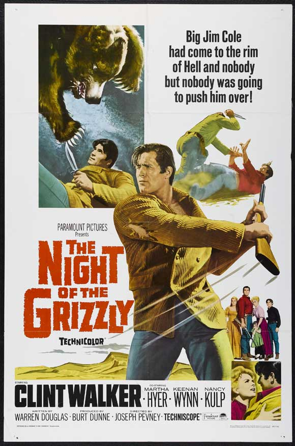 The Night of the Grizzly (1966) 11x17 Movie Poster by Pop Culture Graphics