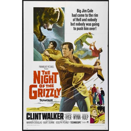 The Night of the Grizzly (1966) 11x17 Movie Poster (Movie Night Decor)
