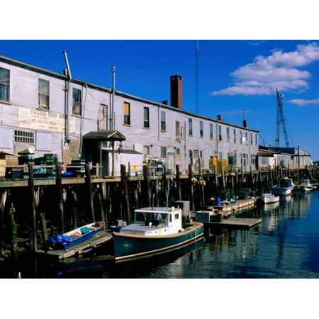 - Old Port Exchange Area, Fishing Docks, Portland, Maine Print Wall Art By John Elk III