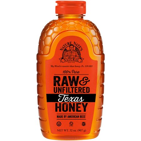 Nature Nates  Raw   Unfiltered Texas Honey  32 Oz