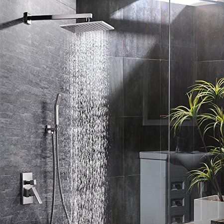 Sr Sun Rise Br Shower System 10 Inch Bathroom Luxury Rain Mixer Combo Set Wall Mounted Rainfall Head