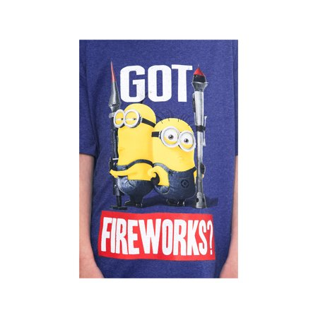 Boys Despicable Me Minions Fourth July 4th T-Shirt Got Fireworks Print Ages 7-12 - image 1 of 2