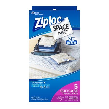 Ziploc Space Bag Travel Bag, 5-Count