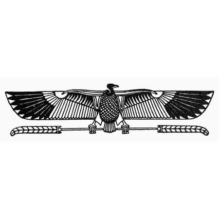Stretched Canvas Art Egyptian Symbol Vulture Nancient Egyptian