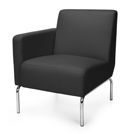 OFM Triumph Series Model 3001R Polyurethane Modular Right Arm Lounge Chair, Black