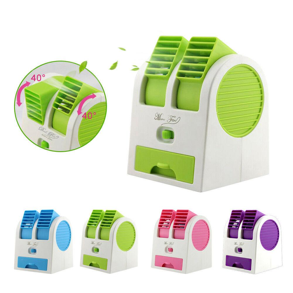 Top Knobs USB Mini Portable Fan Rechargable Desktop Personal Air Conditioner Desk Cooler