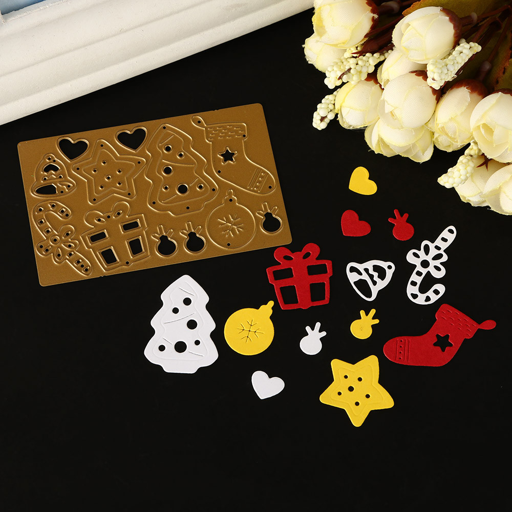 Merry Christmas Metal Cutting Dies Stencils Scrapbooking Embossing DIY Crafts A
