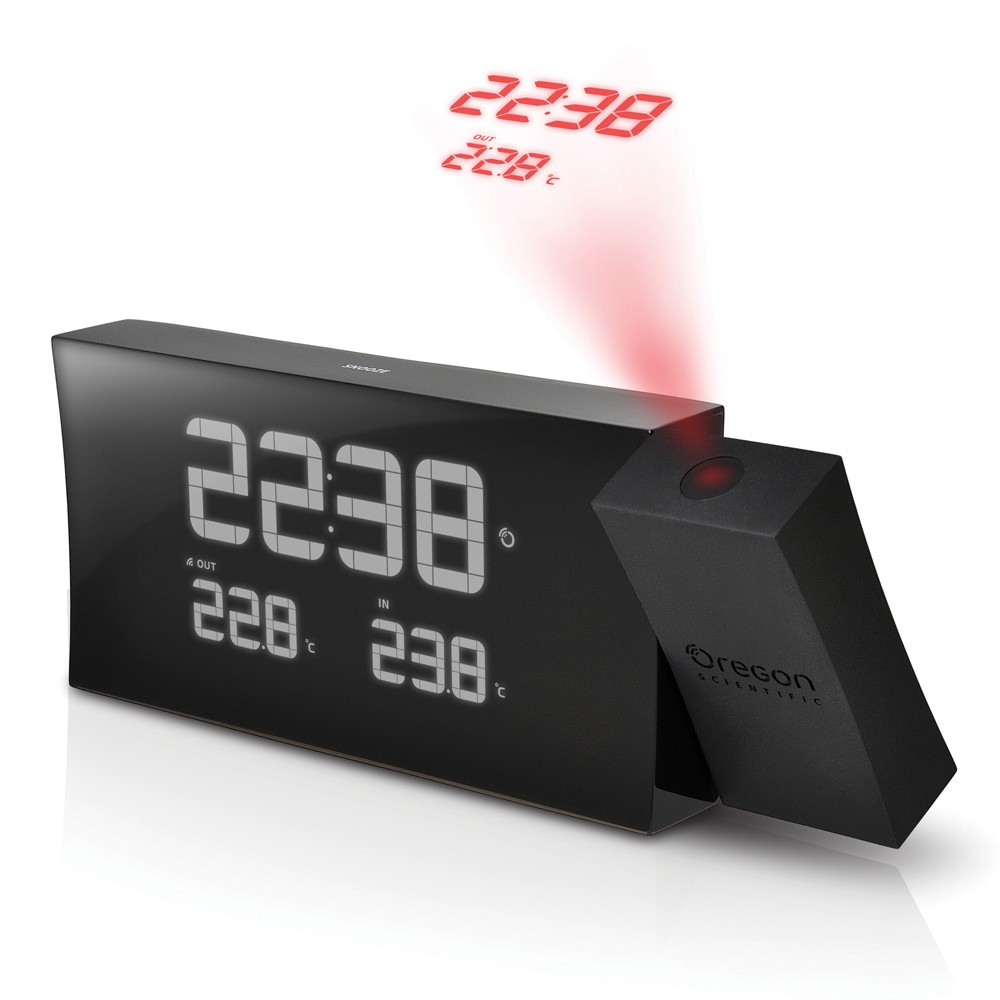 Projection Clock with IN/OUT Thermometer