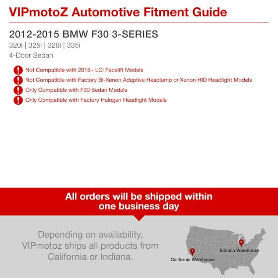 VIPMOTOZ For 2012-2015 BMW F30 3-Series 320i 328i 335i Sedan