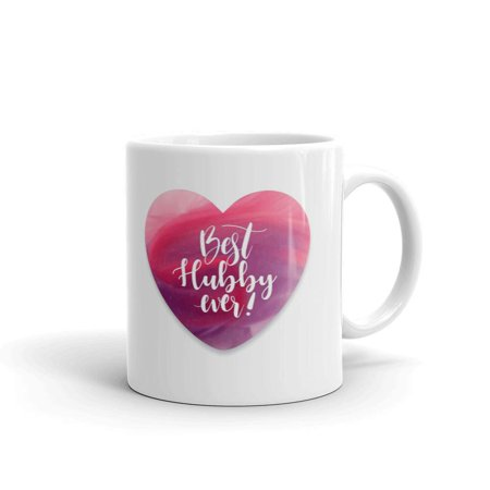 Best Hubby Ever Drink Coffee Tea Ceramic Mug Office Work Cup Gift