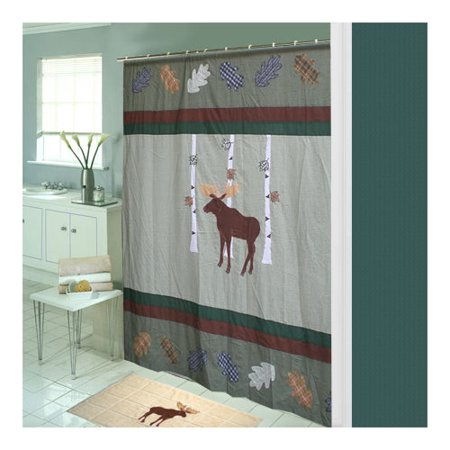 Millwood Pines Lorraine Moose Cotton Single Shower Curtain