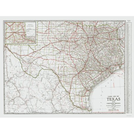 Map Of Northern Texas.Old State Map Texas And Northern Mexico Clason 1931 23 X 30 29