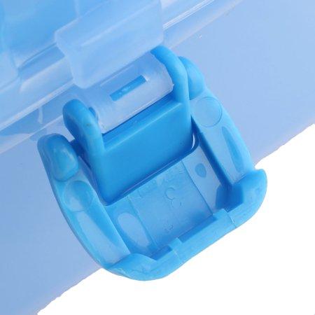 Maison Couches stockage double en plastique Articles divers Bo te fort bleu clair Conteneurs - image 1 de 5
