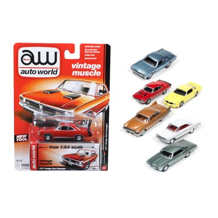 Autoworld Muscle Cars Release 5A Premium Licensed Set Of 6 Cars 1/64 Diecast Model Cars by Autoworld - image 1 de 1