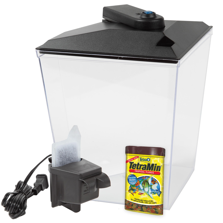 Aqua Culture One Gallon Aquarium Starter Kit With Led Walmart Com Walmart Com