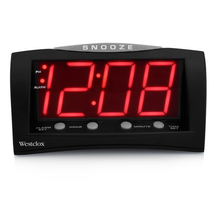 66705A- Westclox Triad Alarm Clock with Large 1.8