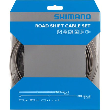 Shimano Road Stainless Derailleur Cable and Housing Set Black