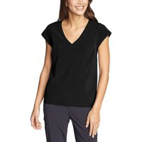 Eddie Bauer Travex Women's Departure V-Neck SS Shirt