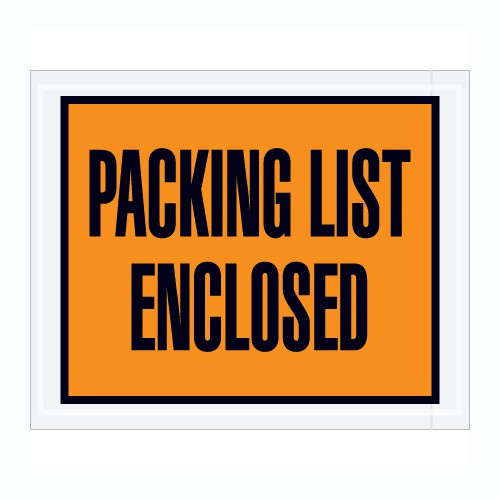 "1000 Packing List Enclosed Envelopes 7""x5.5"" FULL FACE Pouch"