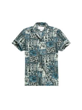a4da6d664 Product Image Made in Hawaii Men's Hawaiian Shirt Aloha Shirt in Blue Classic  Patchwork Hawaiian XL
